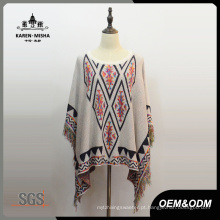 Mulheres Special Design Autumn Poncho Tops