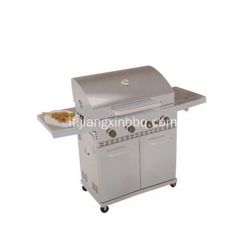 Grill a gas per barbecue all'aperto 4 + 1 bruciatore