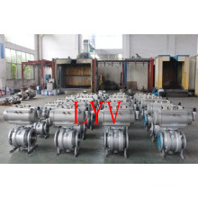 Worm Gear Full Welded Ball Valve with API and ISO Certificates