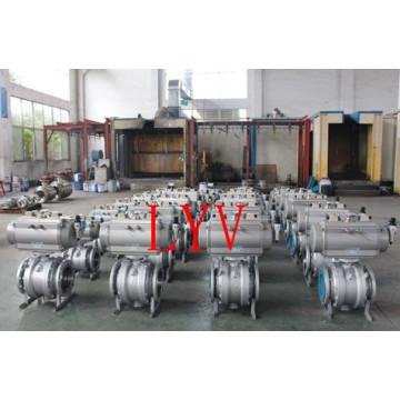 Válvula de bola fija de 2 PCS con brida completa con bridas fabricada por un fabricante profesional