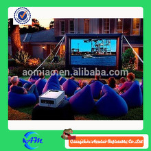 Hot sale outdoor commercial grade vinyl cheap black inflatable screen