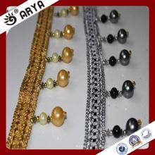 Falsas perlas multicolor franja de cuentas para la cortina deco y la decoración de la lámpara