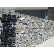 Venda quente profissional fabricação de aço inoxidável gabião cesta
