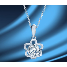 Petal Flower Mozanstone Luxury 1 Carat Diamond Necklace S925 Sterling Silver Ins Clavicle Chain Fashion Jewellery Necklace for Women
