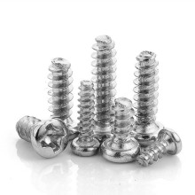 SS 304 Stainless Steel M2 M2.3 M2.6 M3 M3.5 M4 M5 Phillips Pan Mushroom Head Self Tapping Screw for Plastic