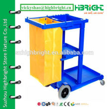 new style strong janitor cart trolley for hotel