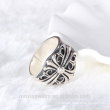 Hot antique style ring mounting 925 sterling silver adjustable finger ring base thai silver rings finding