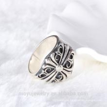 Горячее антикварное кольцо с круглой прокладкой из серебра 925 пробы, серебро, серебро