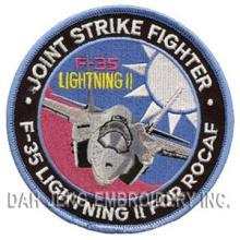 Remaches bordados de la fuerza aérea F-35