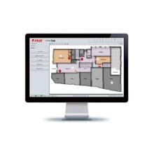 Logiciel de surveillance graphique de la salle de contrôle de la protection incendie