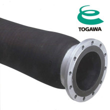High quality 8 inch oil suction hose. Manufactured by Togawa Rubber. Made in Japan (rubber spiral steel wire reinforced hose)