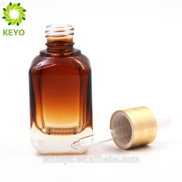 Amber black glass bottle square shape with pump and cap tubes with dropper cap