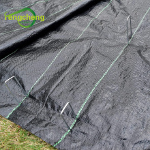 Черный полипропиленовый тканый коврик для защиты от сорняков