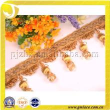 Frangalheira de friso de decoração, franja de frangas de acrílico, abajur com borda frisada