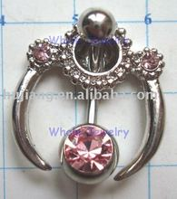 Body jewelry -navel ring,Belly ring ,Navel jewelry(alloy),piercing jewelry-JF4861
