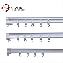 Cheap price plastic curved pvc sliding curtain track ceiling curtain rail