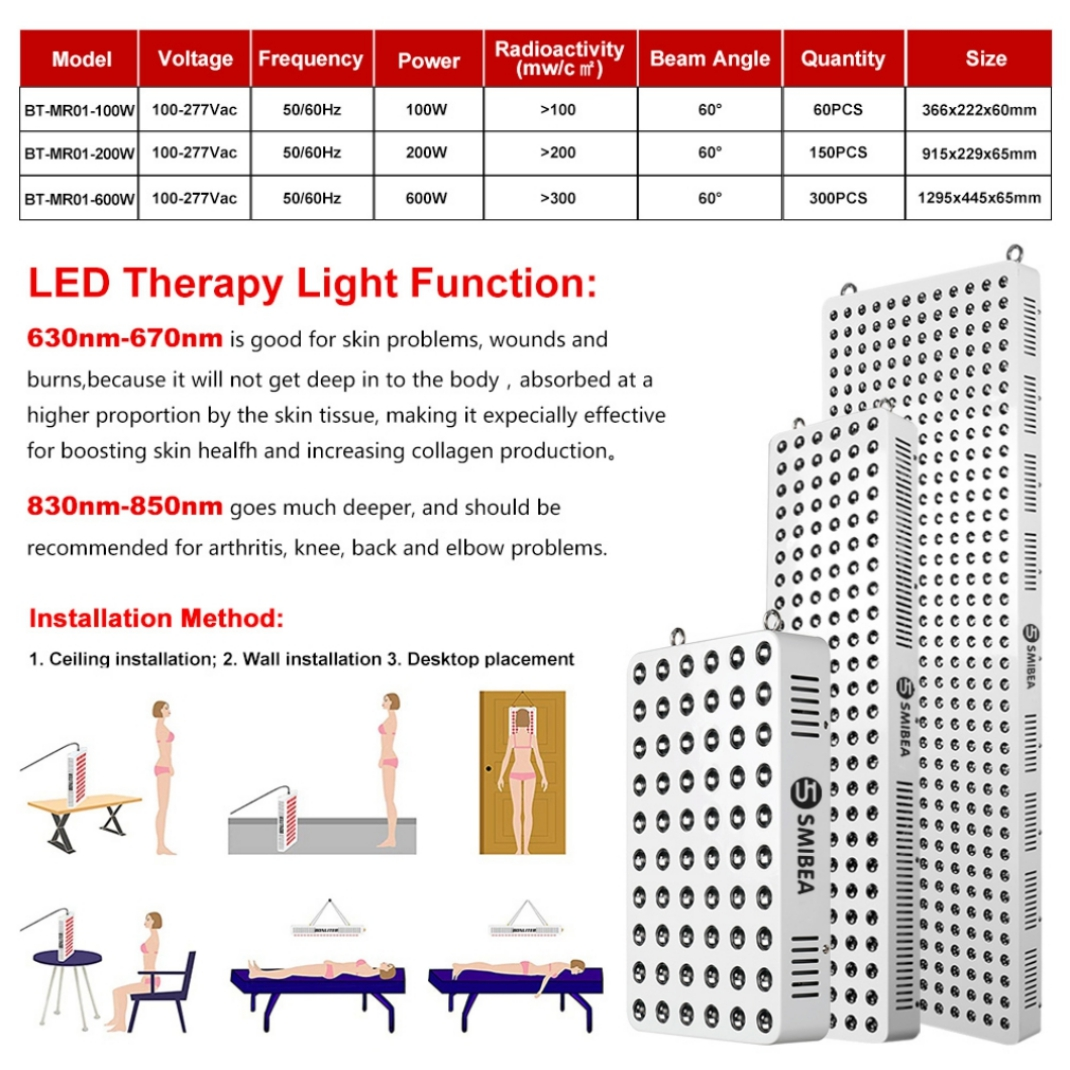 600W Medical Red Led Light Therapy