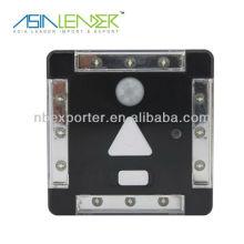Lumière du capteur LED 4 avec interrupteur de capteur de mouvement