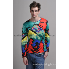 Man Allover Printed Long Sleeve T-Shirts (ELTMTJ-249)