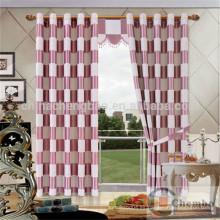 Cortina de lujo cortina de la tela del dormitorio