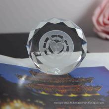 Meilleure vente durable à l'aide de presse-papiers en cristal pour les cadeaux de mariage