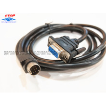 D-sub 9pin female to DIN9 pin male connector cable assembly