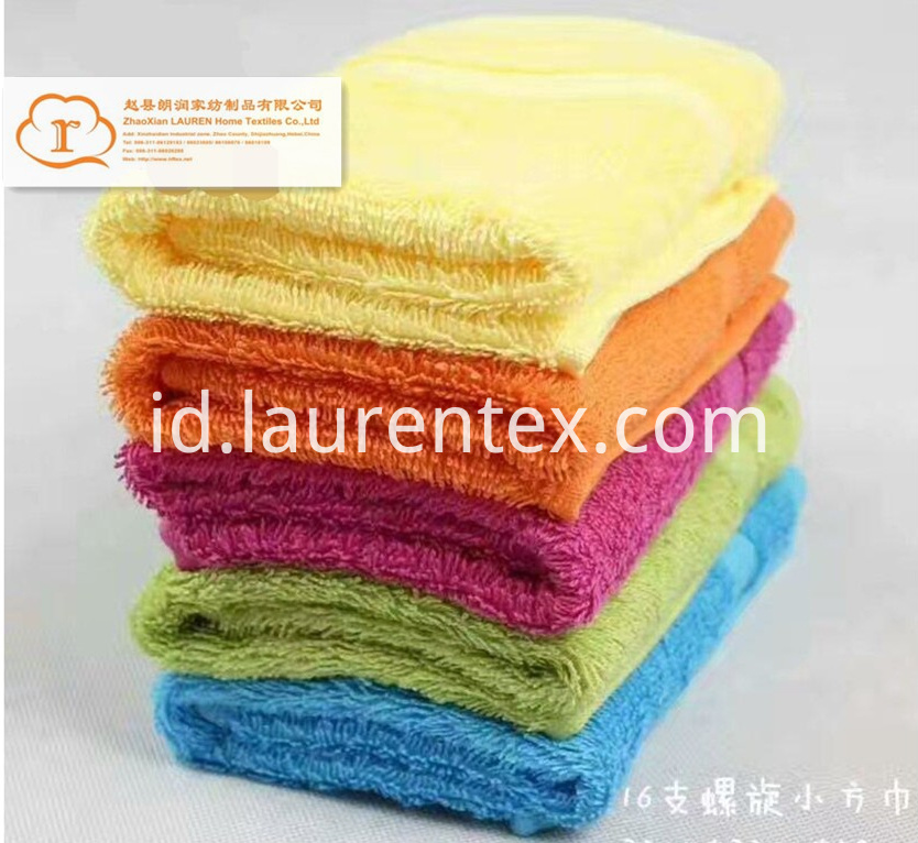 16S spiral 100%Cotton face towels