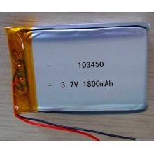 Lithium-Ion Battery 103450 3.7V 1800mAh Li-Po Battery Li-Polymer Battery