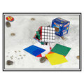 plastic 5x5 magic puzzle cube with a cube holder