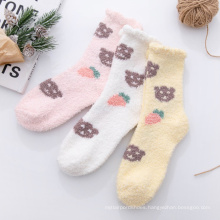 2020 Woolen down coral down socks for women socks  for women plus woolen socks