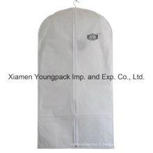 Tissu en tissu blanc non tissé personnalisé imprimé