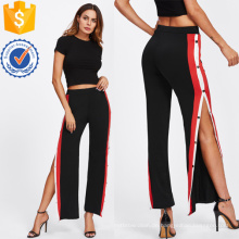Tape Button Side Hosen Herstellung Großhandel Mode Frauen Bekleidung (TA3090P)