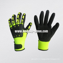 Hi-Viz Color Mechanic Nitrile Palm TPR Glove-5054