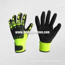 Привет viz Цвет Нитрил перчатка механика ладонь ТПР-5054