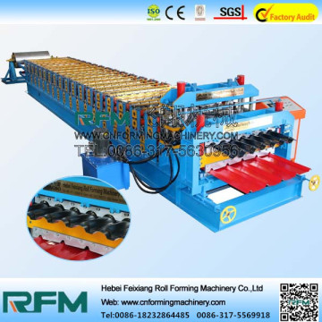 Glazed roof sheet roll forming machine