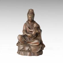 Buddha Bronze Sculpture Kids Avalokitesvara décor Statue en laiton Tpfx-B98 / B99