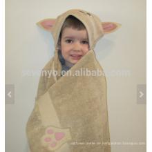 Cat Hooded Towel - tan Katze, 100% Baumwolle, super weich und saugfähig