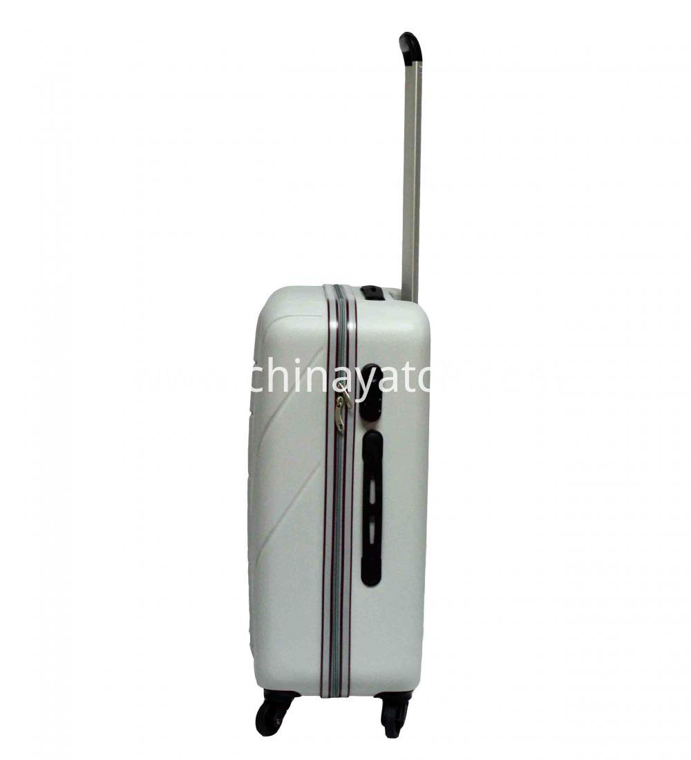 Contrast Color Piping ABS Luggage Set