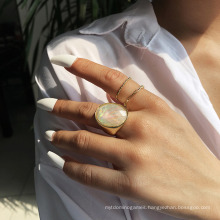 Best-Selling New Ring Female Personality Simple Resin Joint Ring French Light Luxury Design Ring