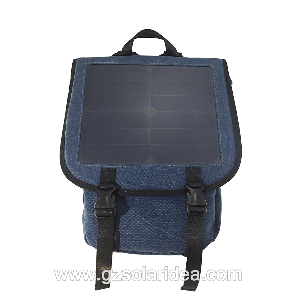 Backpack with Solar Panels