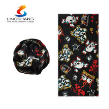 hot new products for 2016 lingshang multifunctional magic outdoor ghost seamless tubular bandana