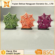 Christams Snowflake Shape Bougie en céramique, Décoration intérieure