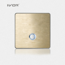 1 Gang Lighting Switch Touch Panel Aluminum Alloy Material (RD-ST1000L1)
