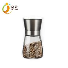 Stainless Steel Pepper Mill glass bottle grinder spice grinder mini salt and pepper mill