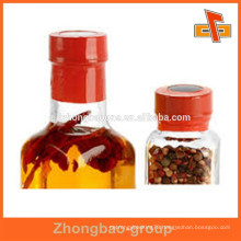 Plastic shrinkable heat seal label with new style design for bottle cap