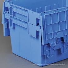 Tampas de armazenamento de plástico de alta qualidade dobradiça tampas plana aninhando recipientes