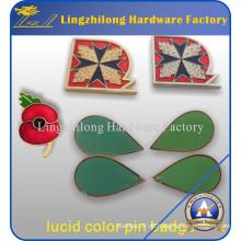 Benutzerdefinierte Lucent Farbe Poppy Pin Badge