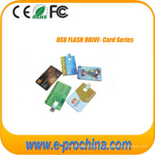 Cartão de visita USB Flash Drive com logotipo livre Tc06