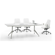 White Wood Panel Meeting Table Office Furniture (FOH-VJH24)