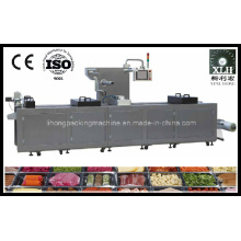 Dlz-420 Full Automatic Continuous Stretch Cooked Food Vacuum Packaging Machine